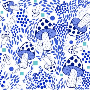 Blue Mushrooms