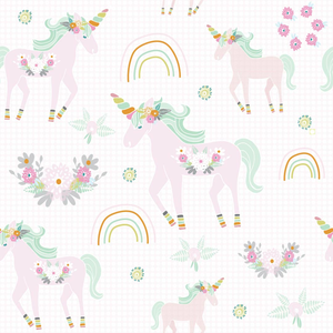 Unicorn Pattern Pink Dot Bg 01