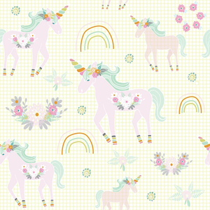 Unicorn Pattern Yellow Bg 01