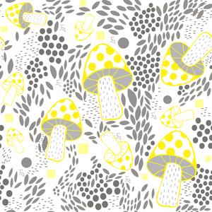 Yellow And Gray Mushroom